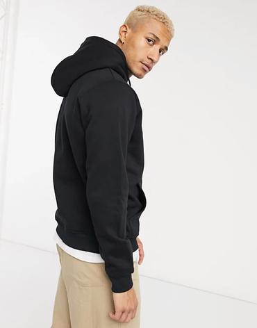 Чоловіча спортивна кофта кенгуру, толстовка Nike (Найк) чорна, фото 2