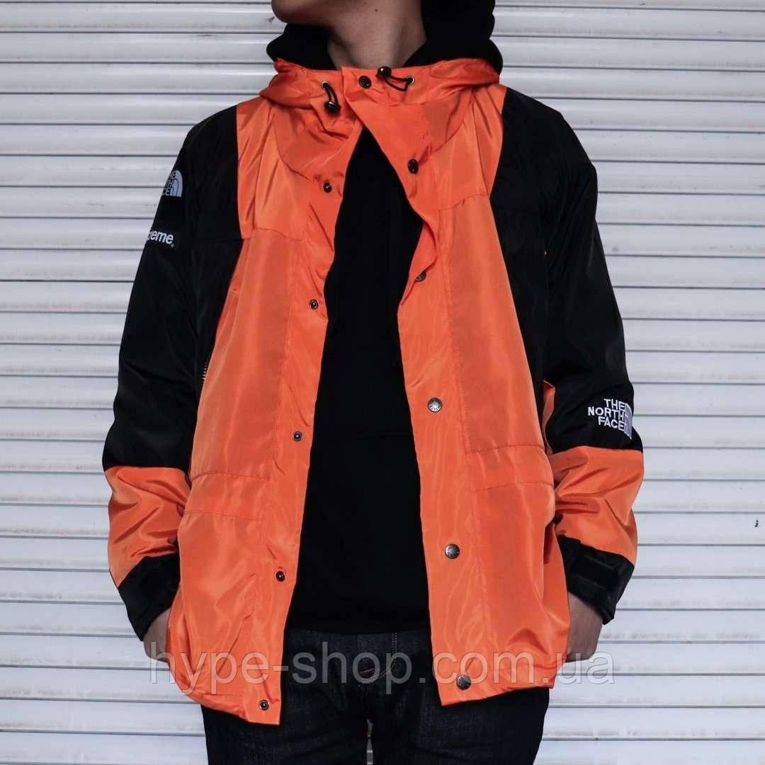 Мужская ветровка Supreme x The North Face light orange куртка суприм тнф tnf