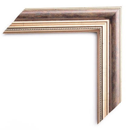 Настенное зеркало БЦ Стол Эстель квадратное B02-F темное золото, фото 2