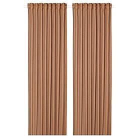 IKEA SILVERLÖNN  Гардины, 2 шт, светло-коричневые (404.880.89)