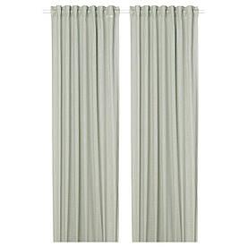 IKEA SILVERLÖNN  Гардины, 2 шт, светло-зеленые (404.880.94)