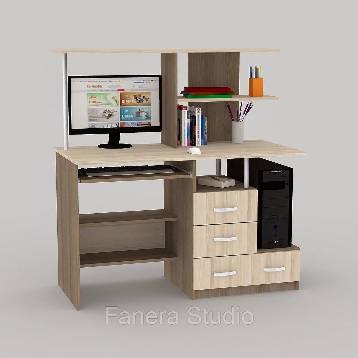 Компьютерный стол LED 65 Лимберг / Коимбра
