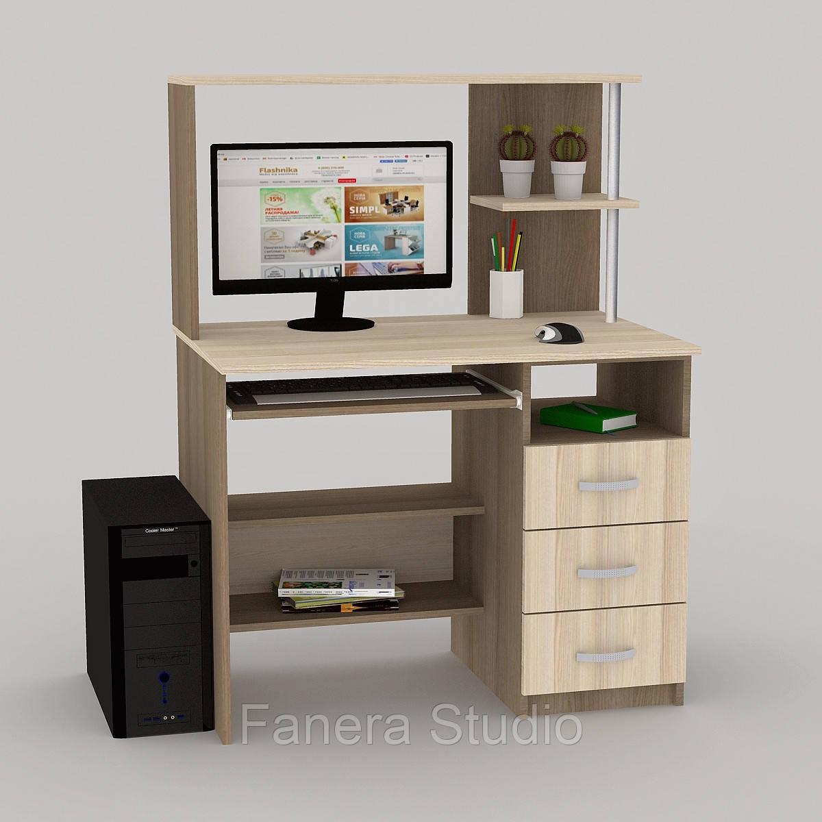 Комп'ютерний стіл FLASHNIKA LED 63 Лімберг/Коімбра