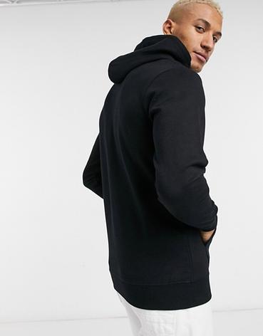 Мужская спортивная кофта кенгуру, толстовка Nike (Найк) черная, фото 2