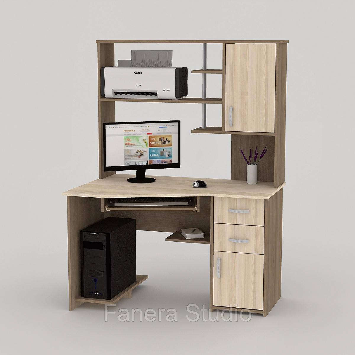 Комп'ютерний стіл FLASHNIKA LED 31 Лімберг/Коімбра