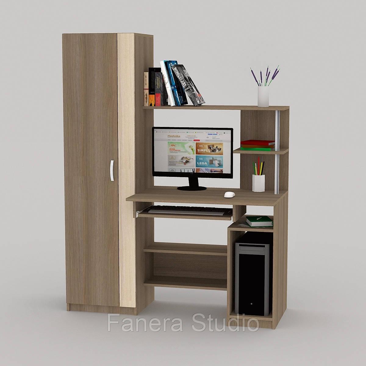 Комп'ютерний стіл FLASHNIKA LED 66 Лімберг/Коімбра
