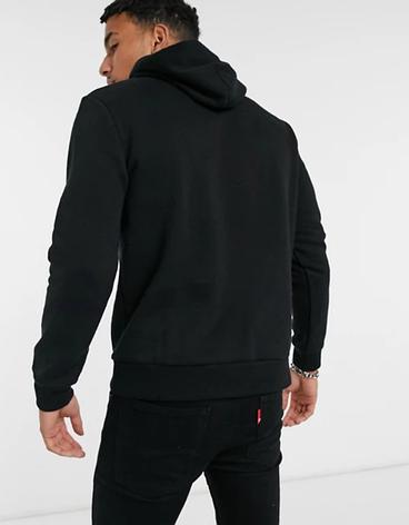 Мужская спортивная кофта кенгуру, толстовка The North Face (Норт Фейс) черная, фото 2
