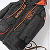 """Куртка жилет для мальчика демисезонная """"Энерджи"""" черная с оранжевым 110, фото 4"""