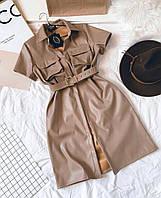 Сукня з екошкіри, сукня з екошкіри з поясом