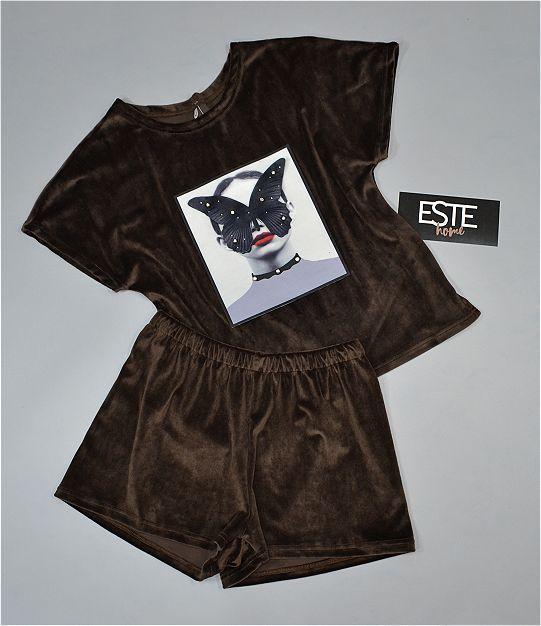 Стильная плюшевая пижама Este