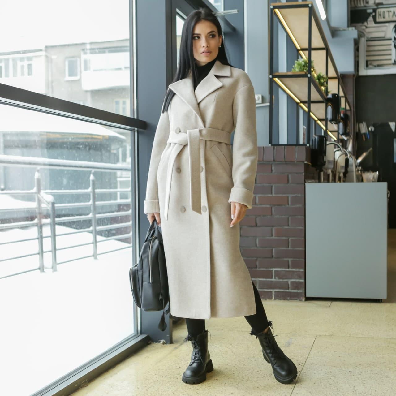 Жіноче демісезонне пальто мокко