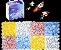 Коврик массажный Космос, 8 элементов, яркий Ортопедический коврик, Пазлы Ортодон детский, развивающий