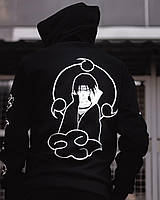 Спортивный костюм мужской весенний осенний Itachi черный | Комплект Худи + Штаны молодежный ЛЮКС качества