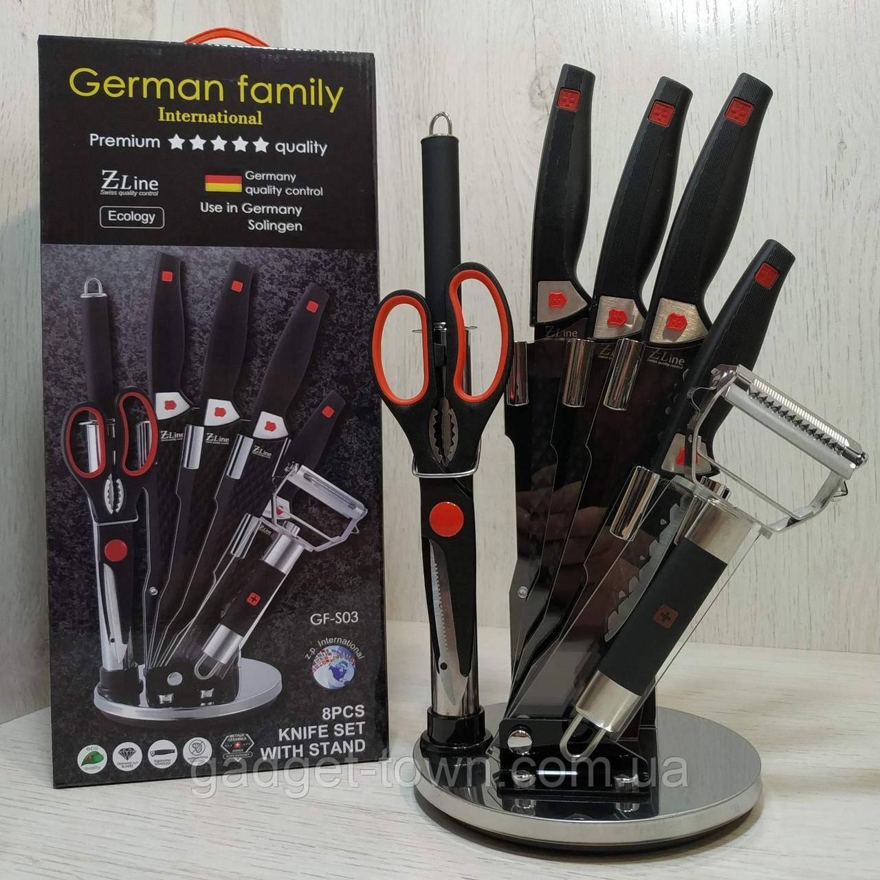 Набір ножів c підставкою 8 предметів German Family