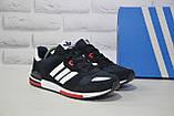 Чоловічі кросівки натуральний замш і текстиль в стилі Adidas ZX700, фото 4