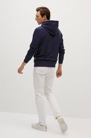 Мужская спортивная кофта кенгуру, толстовка Adidas (Адидас) синяя, фото 2