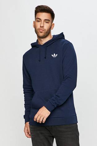 Чоловіча спортивна кофта кенгуру, толстовка Adidas (Адідас) синя, фото 2