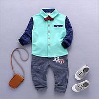 Костюм стильний хлопчику штани і сорочка з метеликом 104
