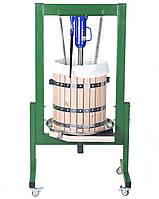 Пресс для сока 50 литров ручной гидравлический с дубовой корзиной. Соковыжималка для яблок, винограда, фруктов