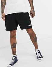Спортивные мужские шорты New Balance (Нью Беленс) черные