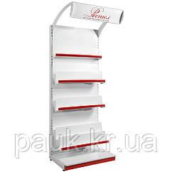 Стеллаж для книг, журналов, газет 1600х950 мм приставной