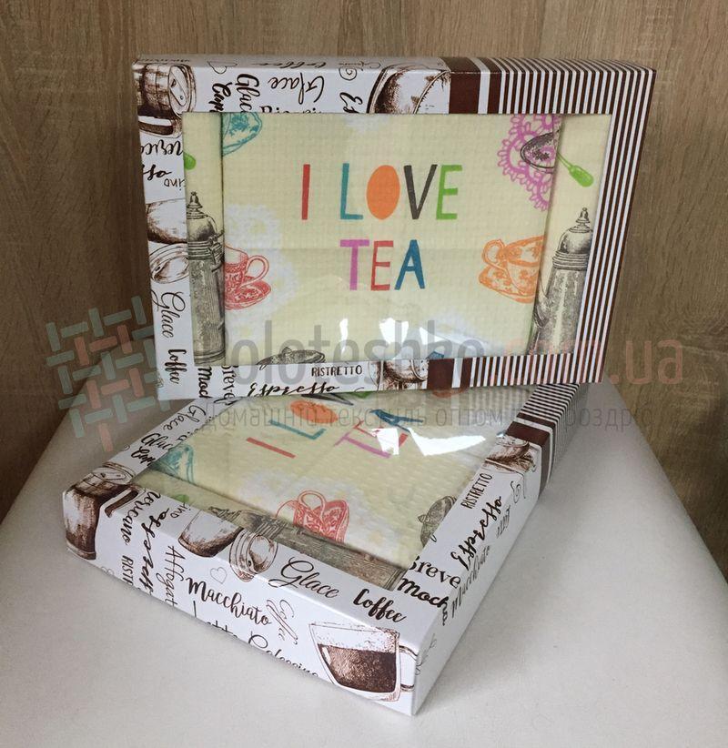 Набор вафельных полотенец I Love Tea