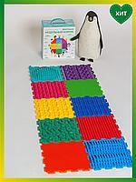 Коврик Ассорти радуга 10 элементов+ подарок Ортопедический массажный коврик, Пазлы Ортодон детский развивающий