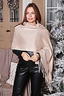 Женский однотонный кашемировый шарф- палантин., фото 1