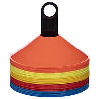 Фішки для розмітки поля на пластиковій підставці, 50 шт., d-20см. (З-6418)