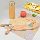 Набор ножей для сыра и разделочная доска Funtree 4 предмета, фото 2