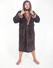 Мужской махровый халат с капюшоном р.48-56.Много размеров и цветов., фото 3