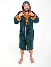Мужской махровый халат с капюшоном р.48-56.Много размеров и цветов., фото 2