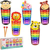 Деревянная игрушка ксилофон  микс видов, в кор. 35*4*15.5 см, р-р игрушки – 33*14*3см /40/ (VV202)