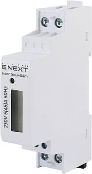 Счетчик однофазный E.NEXT e.control.w04m 5 (45) А электронный класс 1.0 (некоммер)