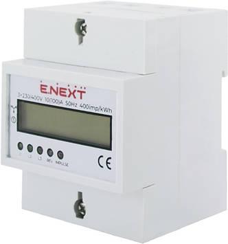 Счетчик трехфазный E.NEXT e.control.w05 5 (100) А электронный класс 1.0 (некоммер)