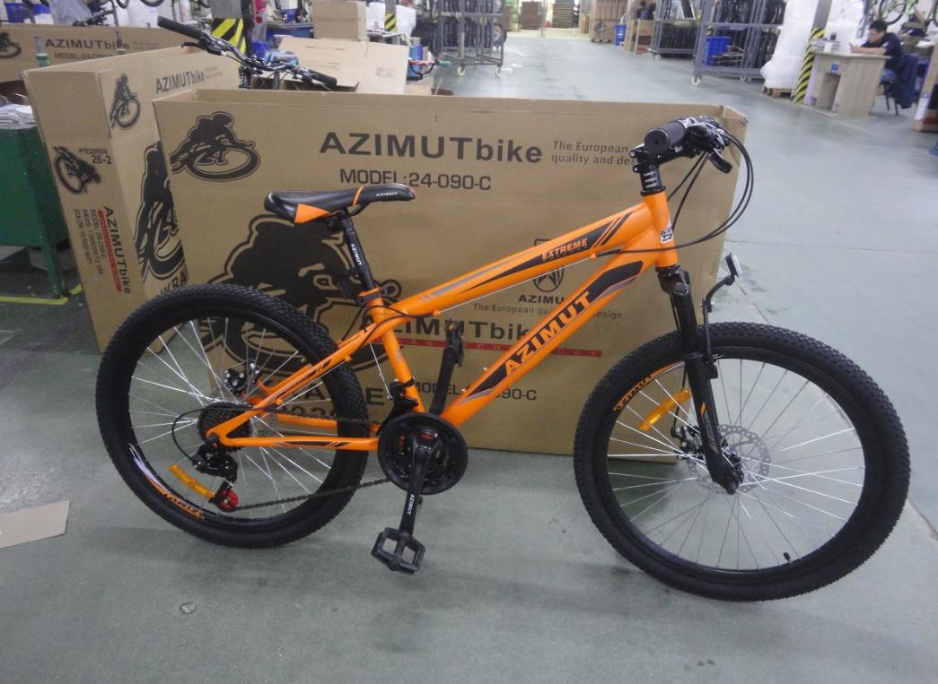 Спортивний гірський велосипед 26 дюймів Azimut Extreme Shimano GD помаранчевий