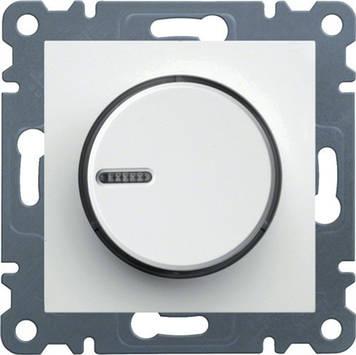 Светорегулятор поворотный Hager WL4010 Lumina-2 60-600Вт Белый