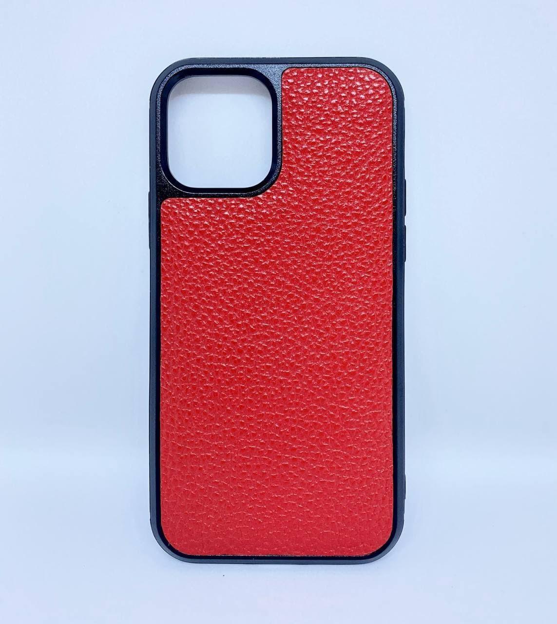 Чехол CaZe для iPhone 12/12 Pro из натуральной кожи красный