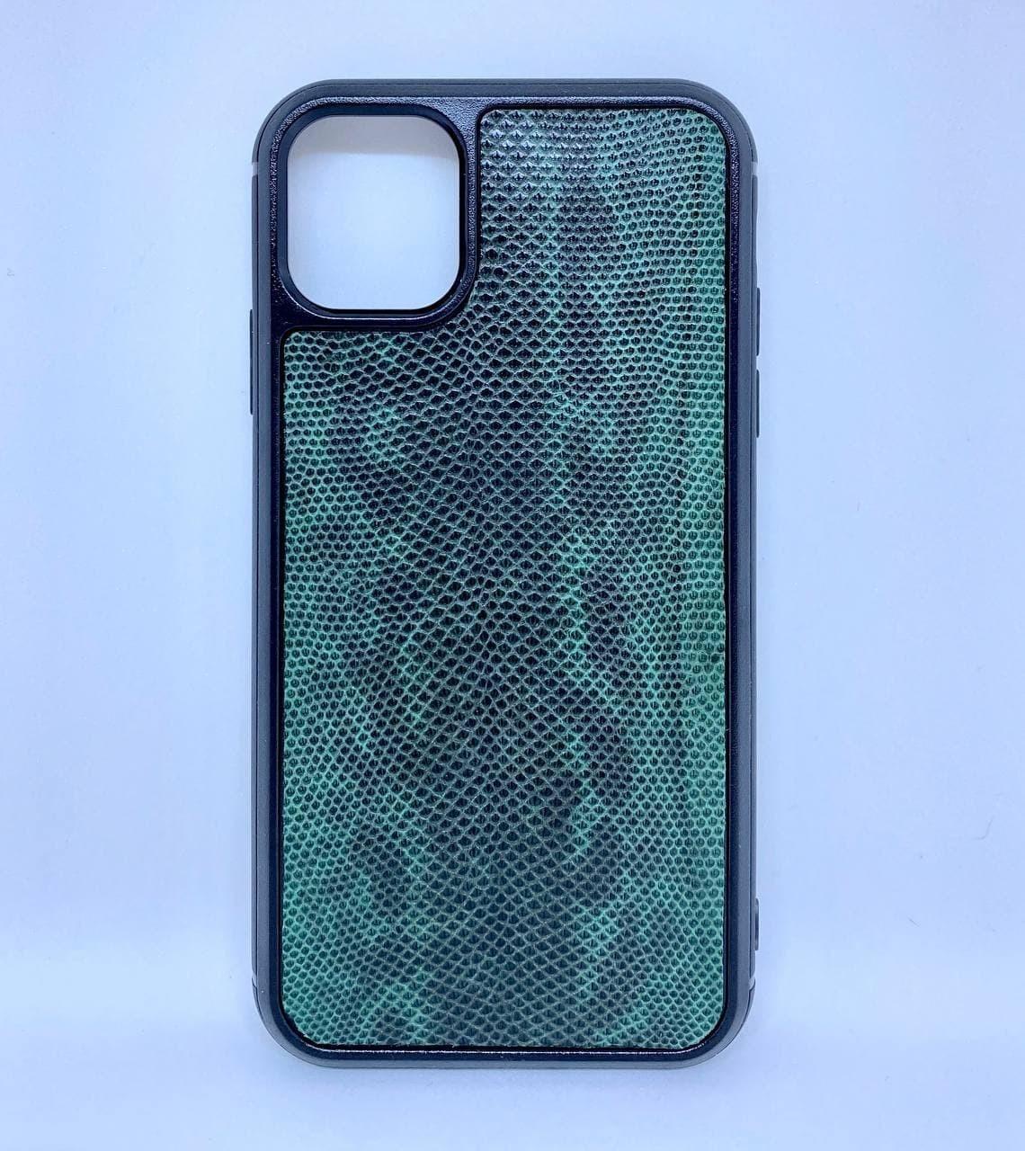 Чехол CaZe для iPhone 11 кожа змеи Карунг