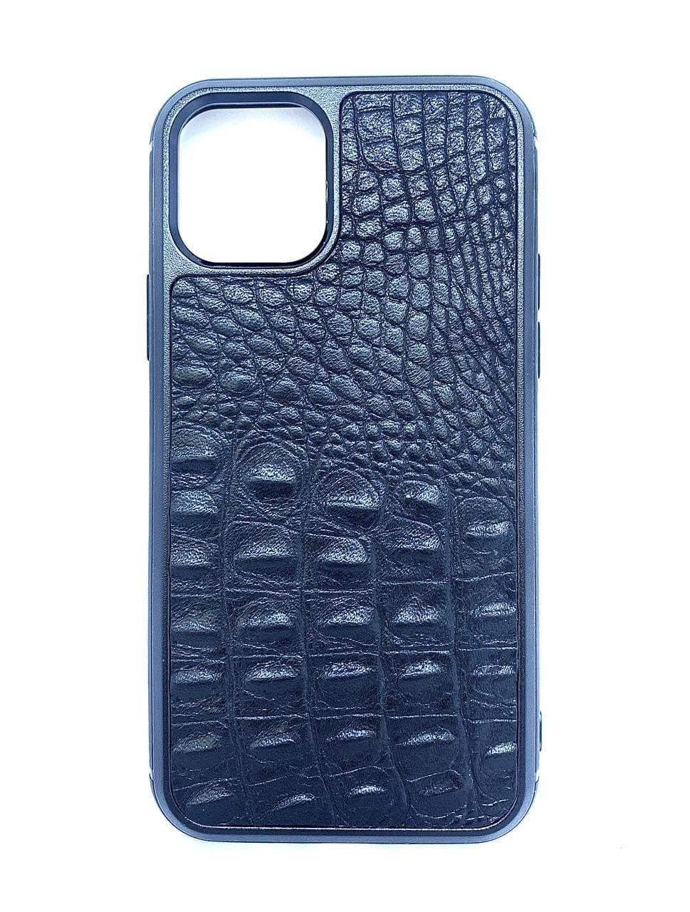 Чехол CaZe для iPhone 11 Pro с тиснением под крокодила Премиум черный