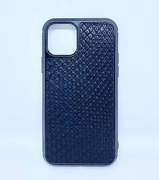 Чехол CaZe для iPhone 11 Pro с тиснением под Питона черный мелкая фактура
