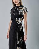 Нарядное расклешенное платье с паетками, фото 3