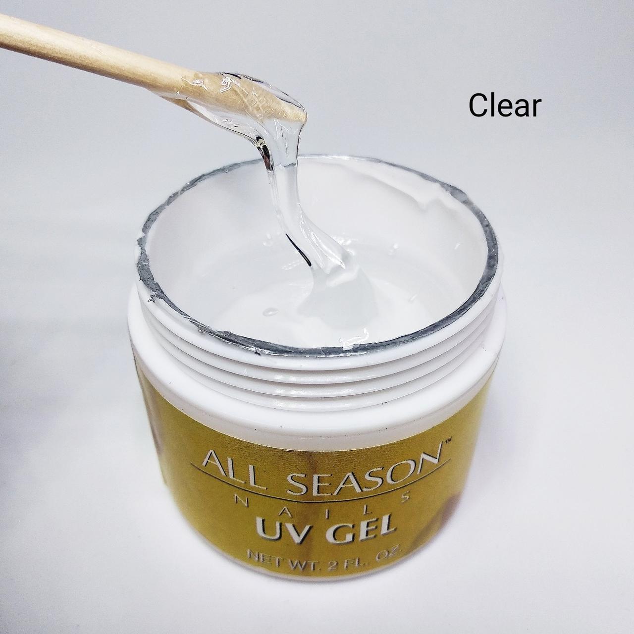 Гельдля наращивания ногтей прозрачный All Season Clear  60мл