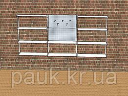 Стелажі настінні Н 1450х950 мм  мм тип 9, система стелажів настінних