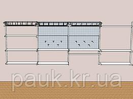 Стелажі настінні Н 1450х950 мм тип 11, металеві стелажі