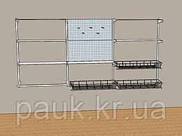 Настінний стелаж Н 1450х950 ммтип 12, система настінних стелажів