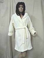 Халат женский короткий теплый ММi крем, фото 1
