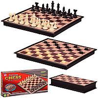 Шахматы 2 в 1, в кор. 24*4*12 см, р-р доски – 24*24*2 см /72-2/ (3136)