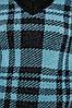 В'язаний джемпер в клітку з теплою пухнастої пряжі. Колір чорно-бірюзовий. Розмір 42-44, 46-48, фото 4