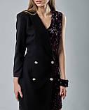 Нарядное платье-пиджак с паетками, фото 2